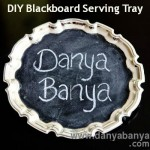 DIY Blackboard Serving Tray