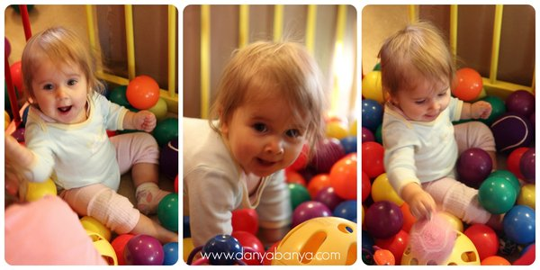 Ball pit play for toddlers