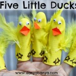 DIY No Sew Hand and Finger Puppets: Five Little Ducks