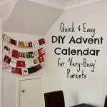 Quick and Easy DIY Advent Calendar (for Very Busy Parents)