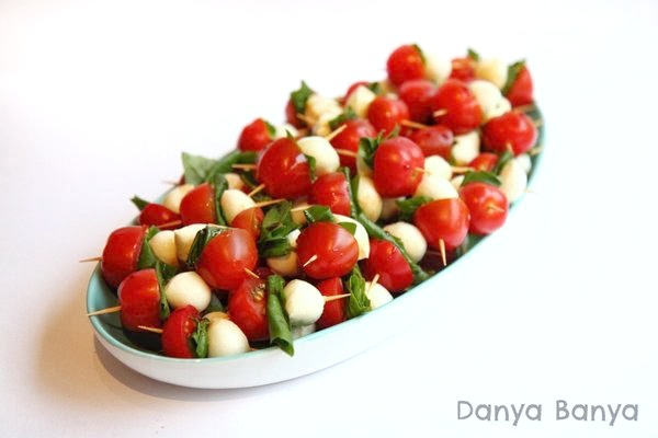 Caprese salad appetizers for the festive season