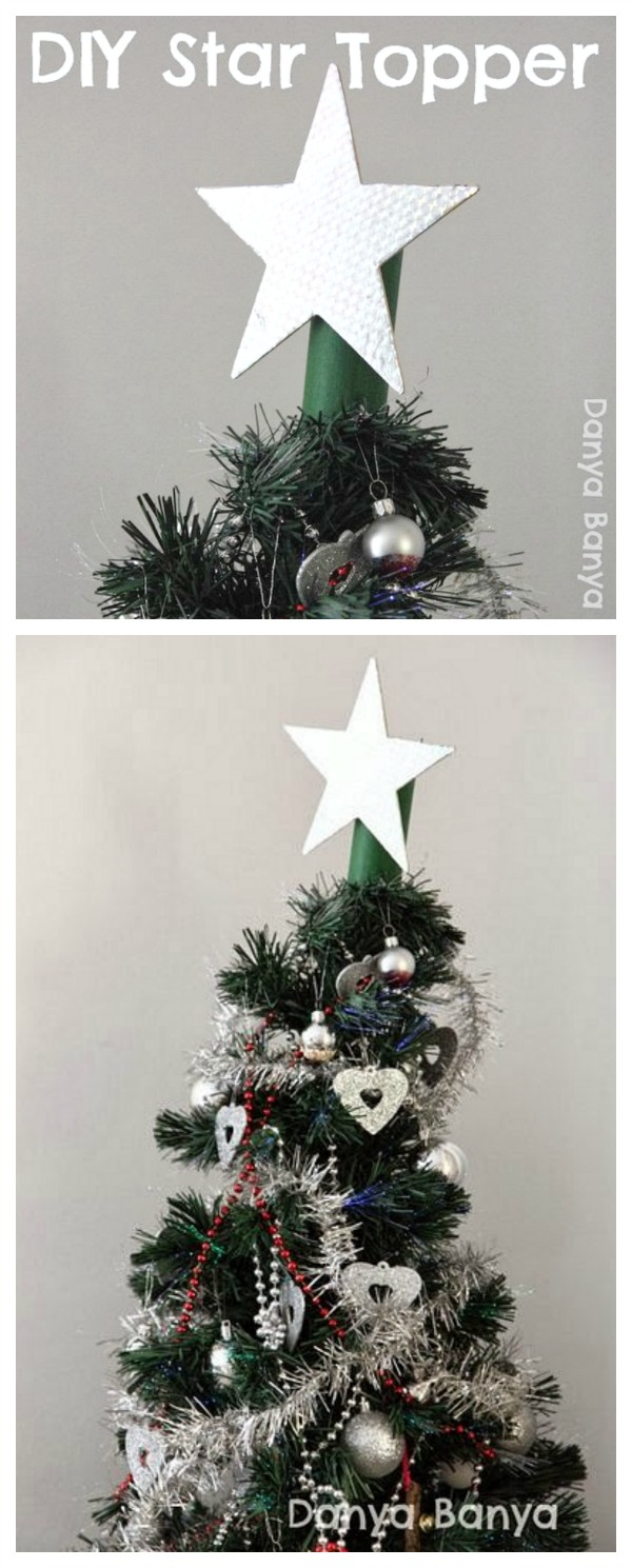 DIY light-weight star topper for your Christmas tree