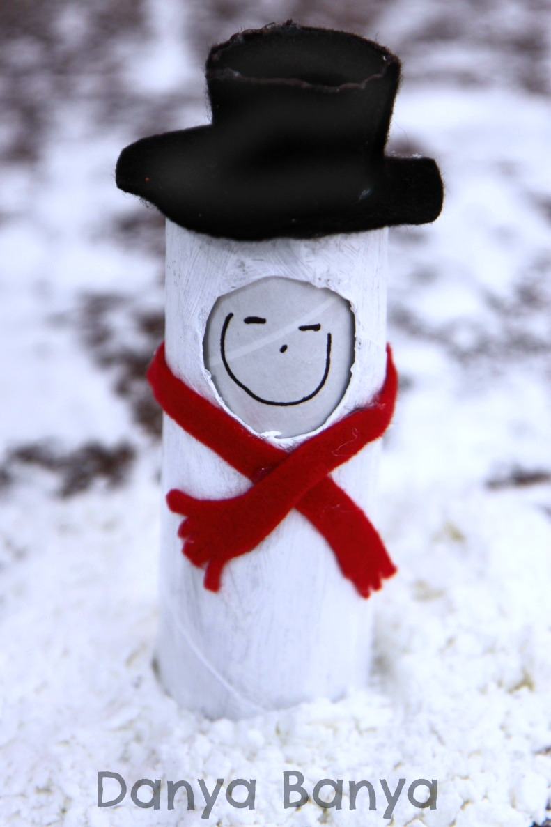 frosty the snowman toilet paper roll doll
