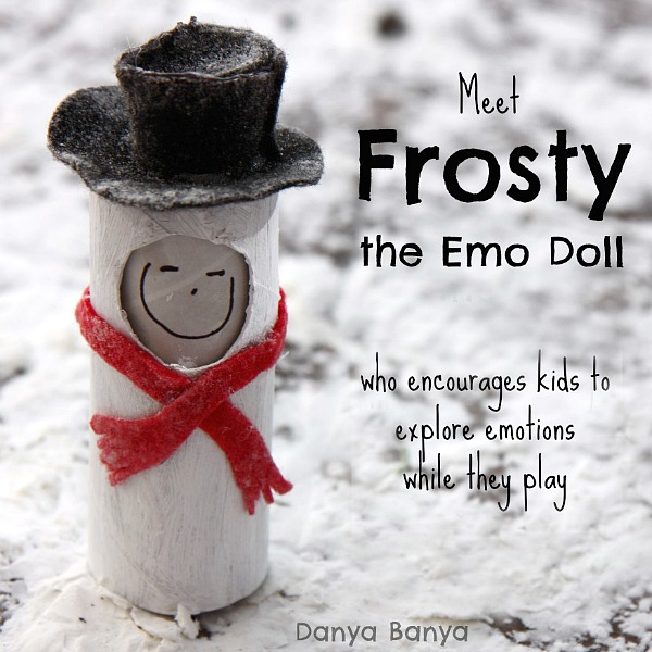 Meet Fristy the snowman toilet paper roll 'emo' doll
