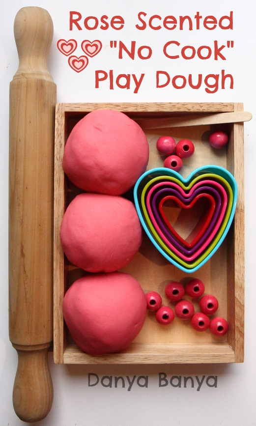 Rose Scented No Cook Play Dough