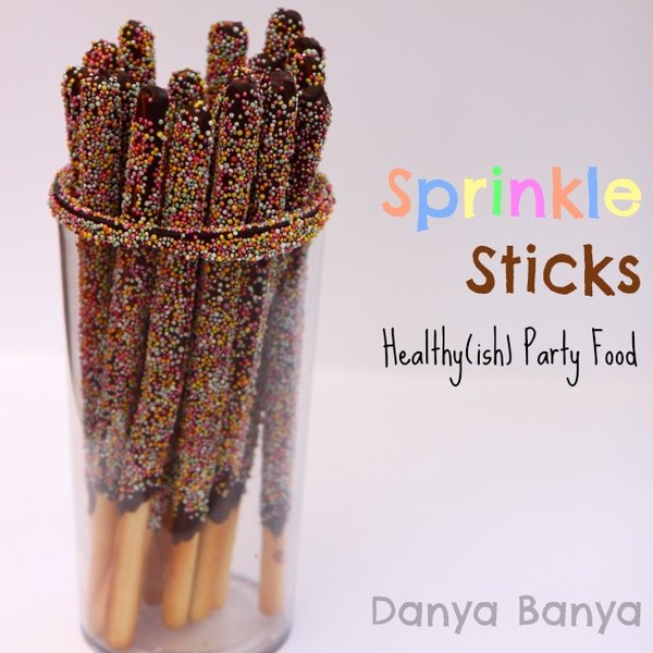 Sprinkle Sticks Healthy Egg-free Party Food