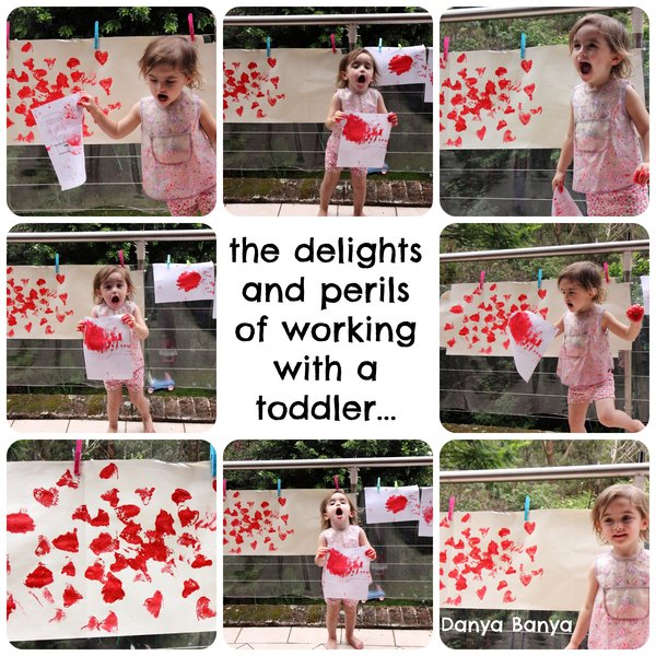 The delights and perils of working with a toddler