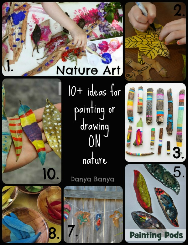 10+ ideas for painting or drawing ON nature