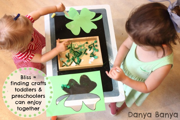 Bliss is finding crafts toddlers and preschoolers can enjoy together