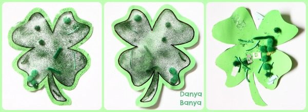 Four Leaf Clover Window Art for St Patricks Day