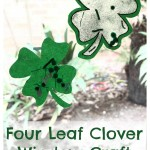 Four Leaf Clover Window Craft