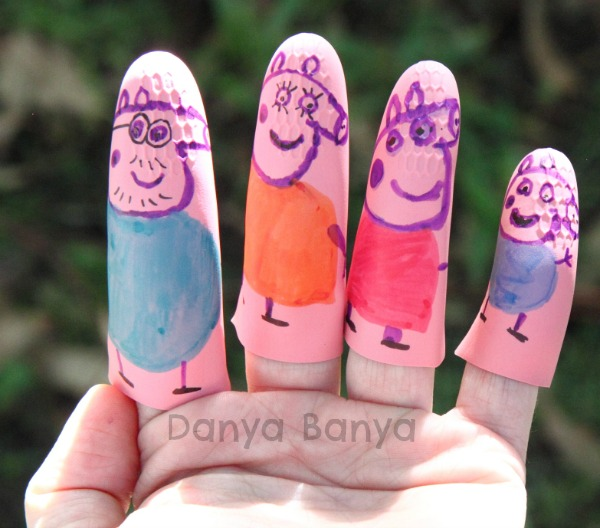 Hand modelling the Peppa Pig Finger Puppets