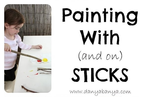 Painting with and on sticks
