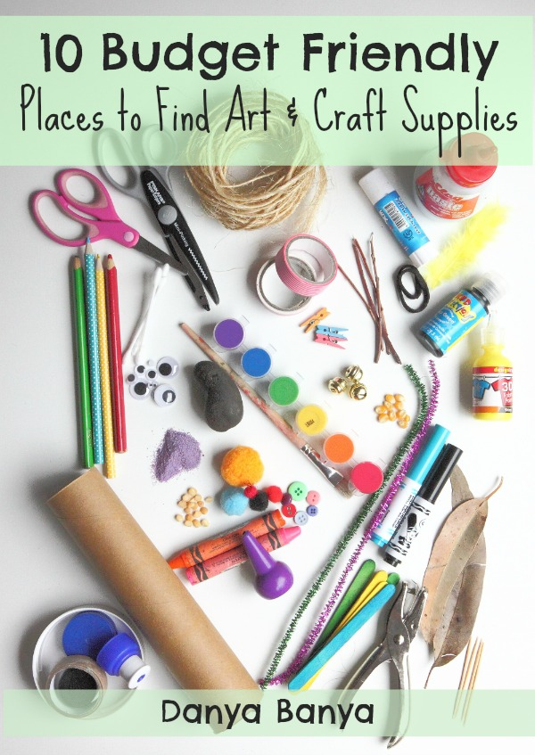 10 Budget Friendly Places to Find Art Craft Supplies