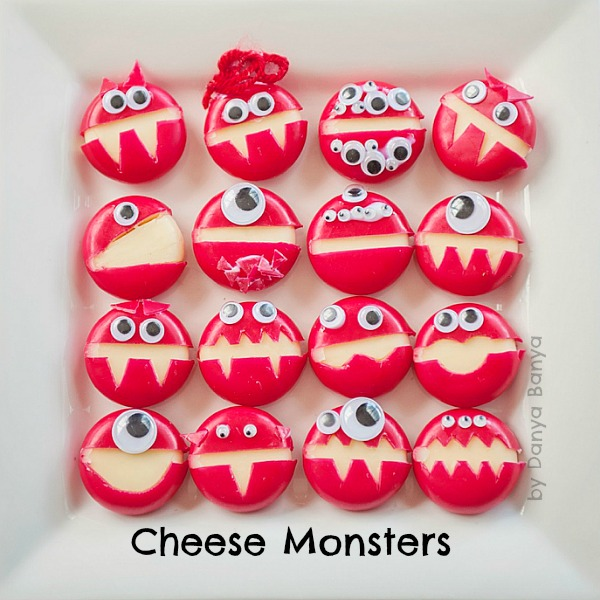 Cheese Monsters - healthy party food