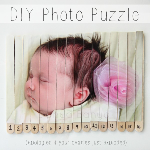 DIY Photo Puzzle and an apology to your ovaries