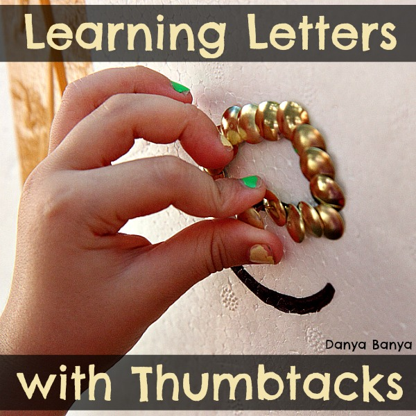 Learning Letters with Thumbtacks
