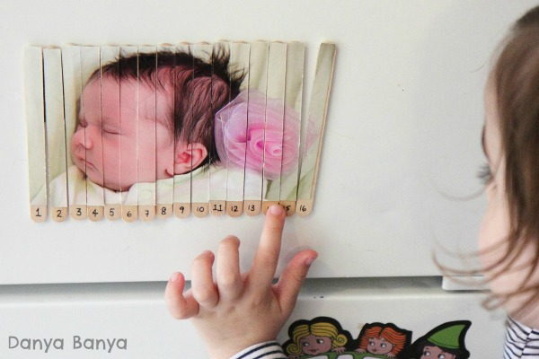 Practising counting with the photo puzzle