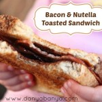 Bacon and Nutella Toasted Sandwich