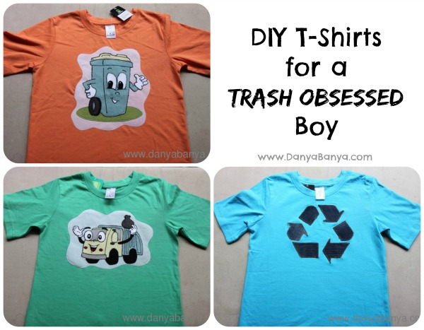 DIY Garbage/Trash Themed T-Shirts