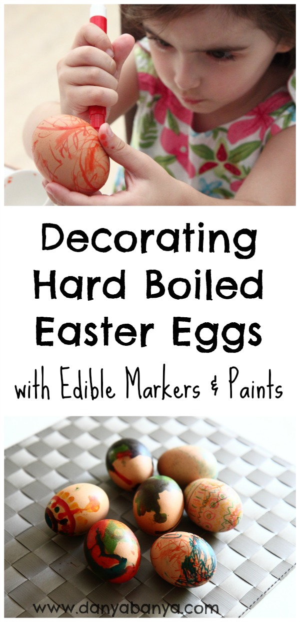 Decorating Eggs With Edible Paints And Markers Danya Banya