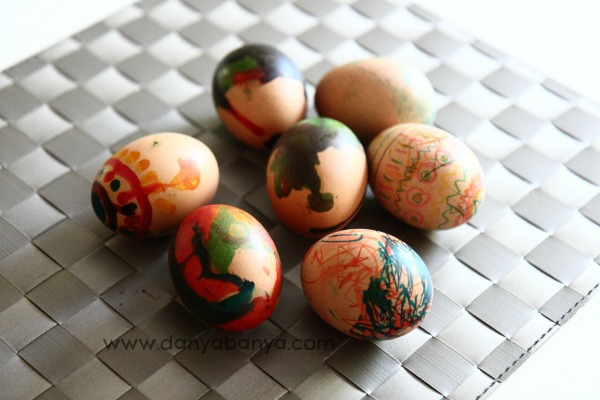 Easter egg painting and drawing