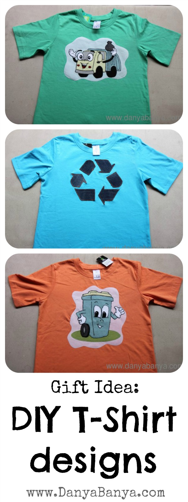 Diy t shirts for a trash obsessed boy danya banya for Diy t shirt design
