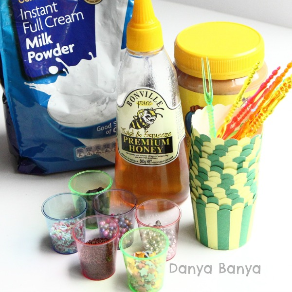 Ingredients for Edible Playdough