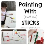 Painting with (and on) sticks