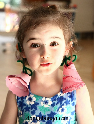 Paper plate flower earings
