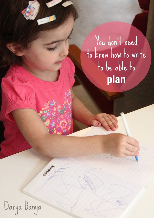 You dont need to know how to write to be able to plan