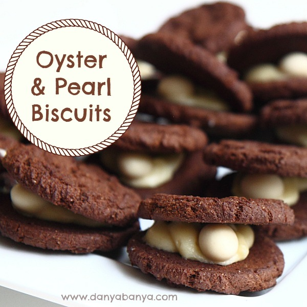 Oyster and pearl biscuits