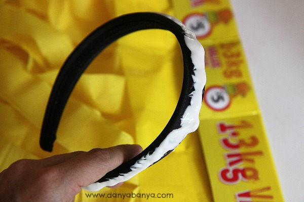 Gluing the headband