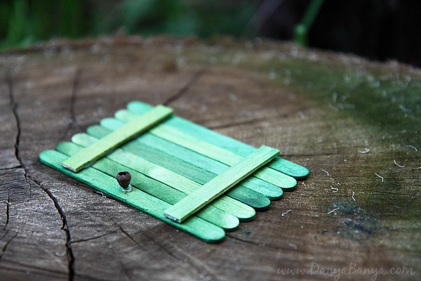 Make a fairy door with a gumnut door knob