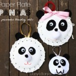 Make some Paper Plate Pandas for preschooler threading skills