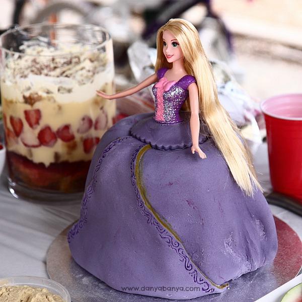 Rapunzel cake and trifle