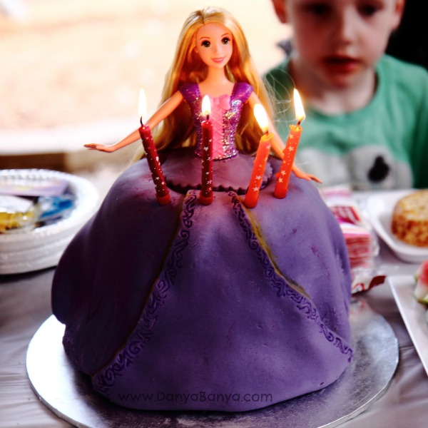 Rapunzel cake by candlelight