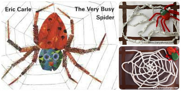 Spider Web craft for The Very Busy Spider by Eric Carle