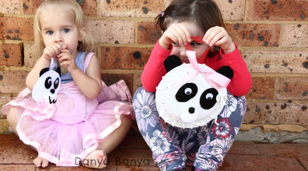 Threaded paper plate panda craft idea