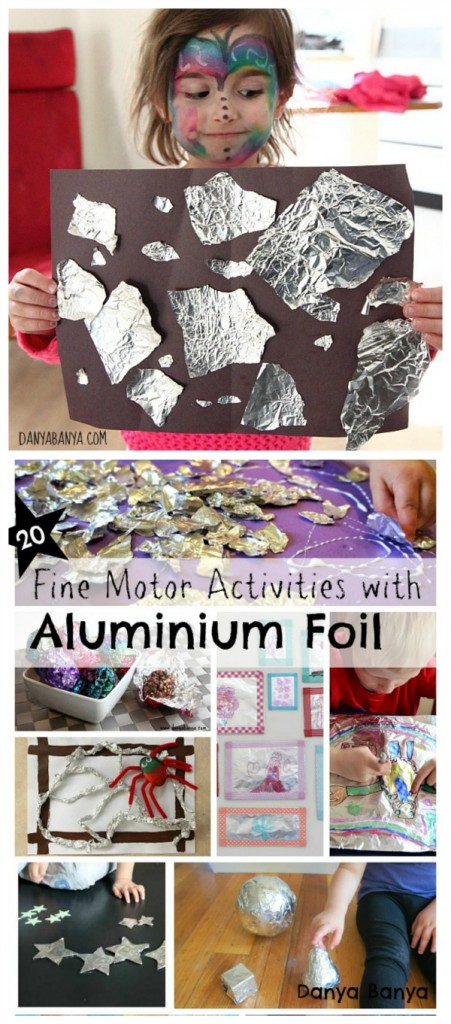 20 Fine Motor Activities with Aluminium Foil - for toddler and preschooler fun that won't break the bank