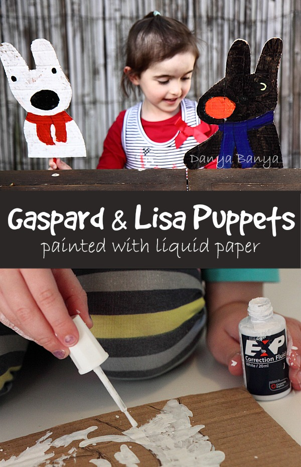 Make some cute Gaspard and Lisa puppets - finally a way to use up those redundant stationery supplies