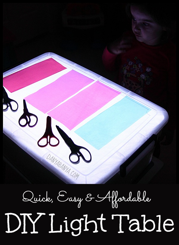 Diy Light Table Danya Banya