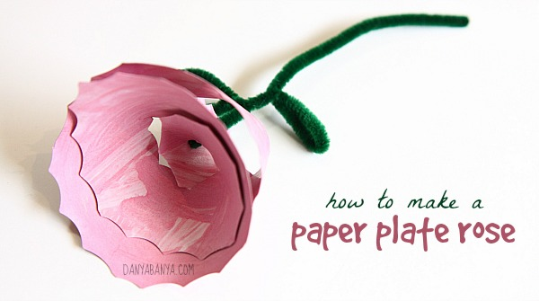 How to make a paper plate rose