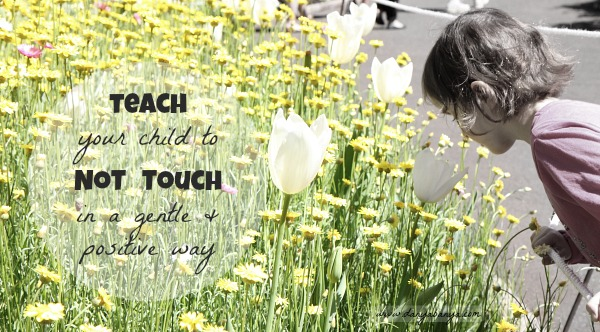 A gentle and positive way to teach kids to not touch