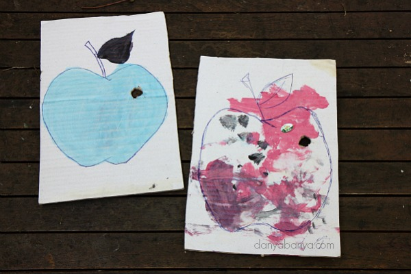 Apple craft for toddlers and preschoolers