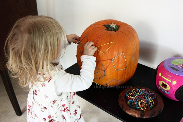 Elastic bands on the pumpkin geoboard