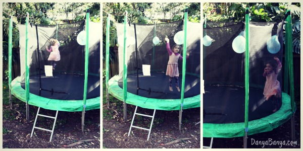Trampoline jumping for number recognition