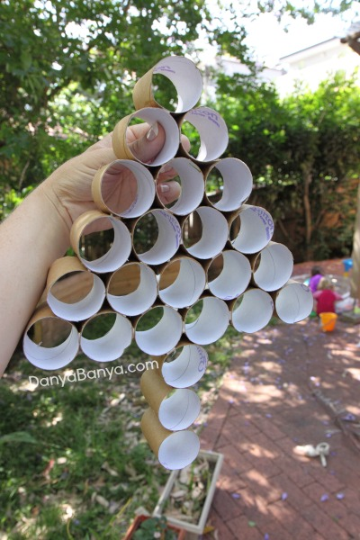 Constructing a toilet paper roll tree