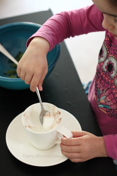 DIY babyccinos for a healthy after preschool snack