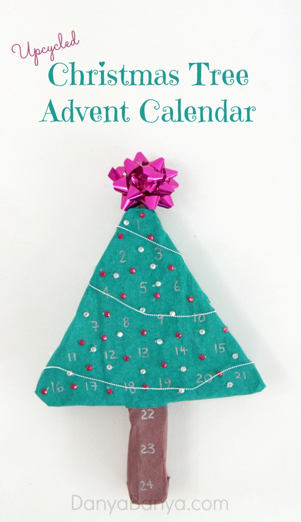 Upcycled Christmas Tree Advent Calendar ~ Danya Banya